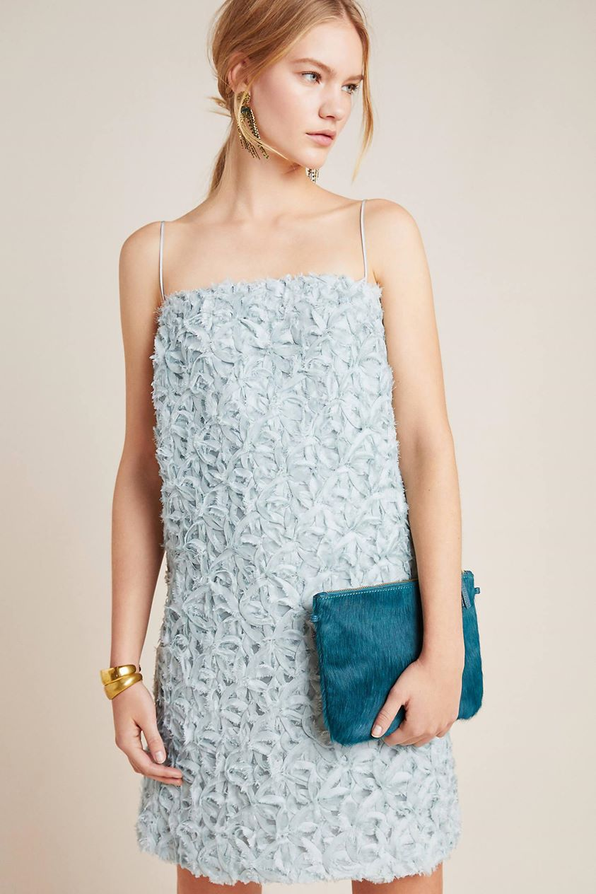 Tessie Textured Shift Dress by Sunday in Brooklyn Blue