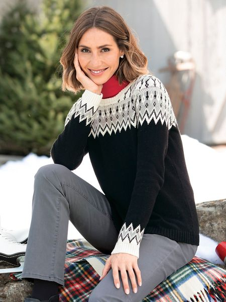 Fair Isle Yoke Sweater | Appleseeds
