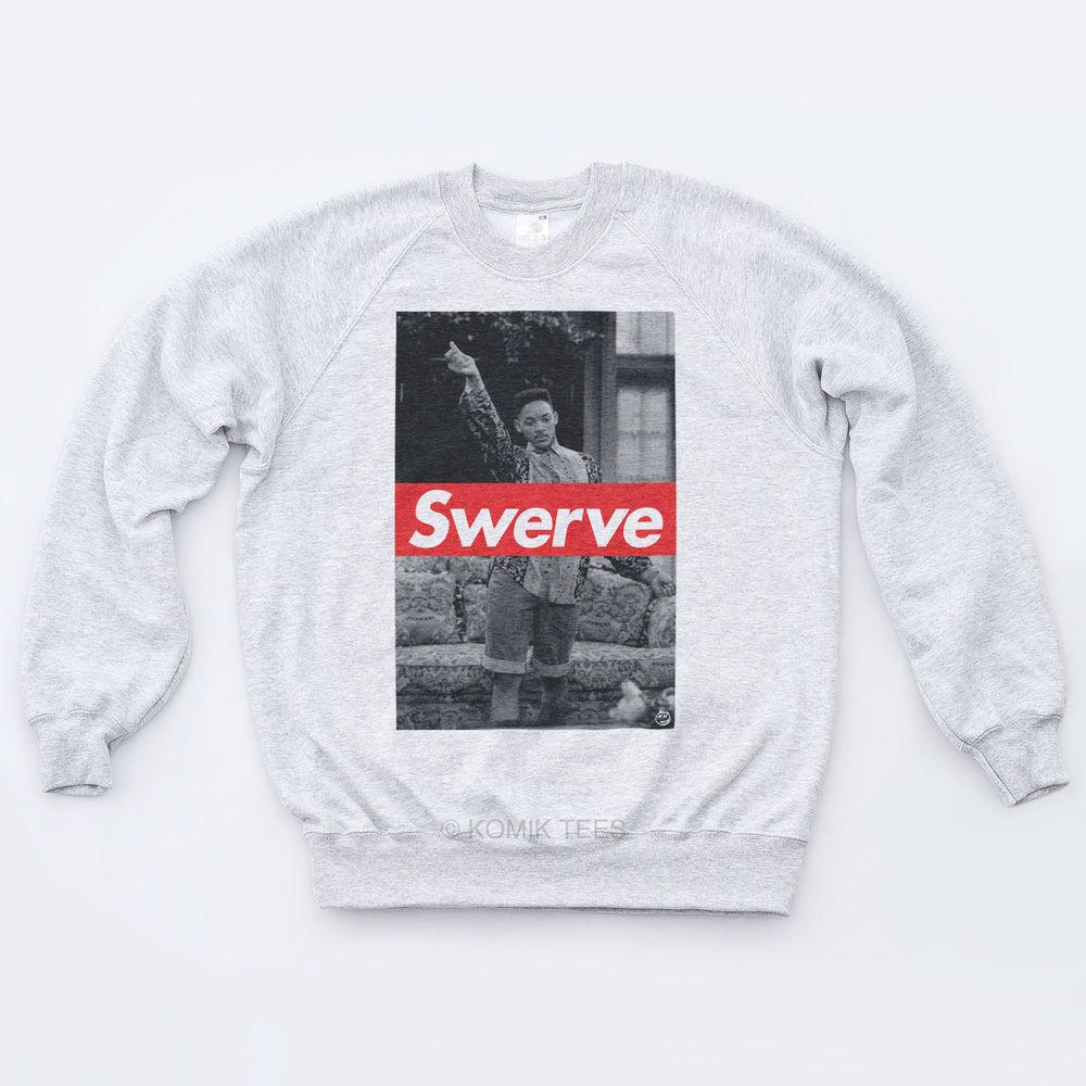 Swerve Sweatshirt Swag Indie Trill 90s Obey Fresh Prince Will Smith Hipsta Sweat   eBay