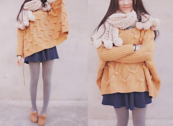 scarf cream knitwear