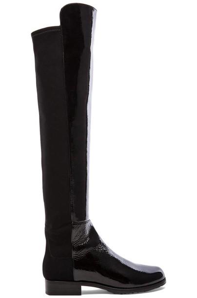STUART WEITZMAN boot leather black