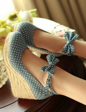 shoes high heel polka dots