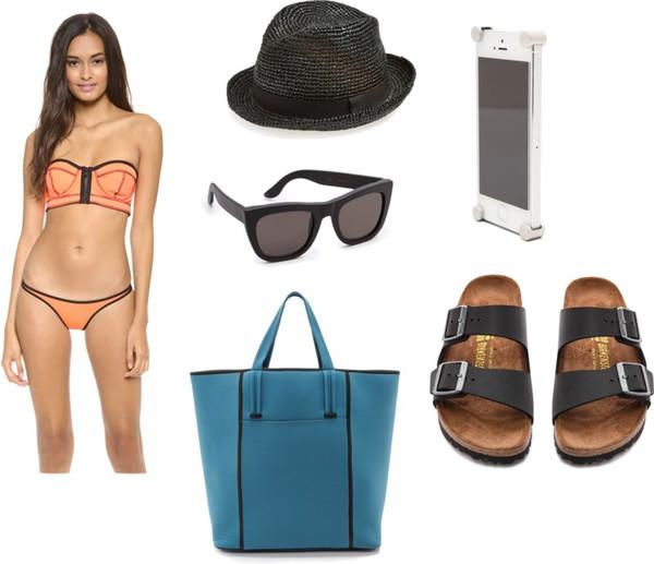 tina sizonova swimwear bag shoes