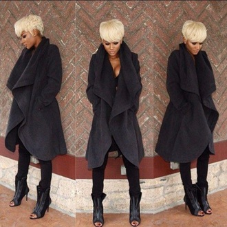 coat charcoal oversized jacket winter coat chic classy