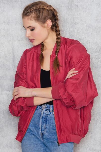 NA-KD Vintage Bomber Vintage Silk Jacket