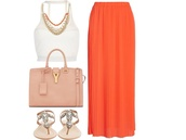 skirt,coral colored skirt