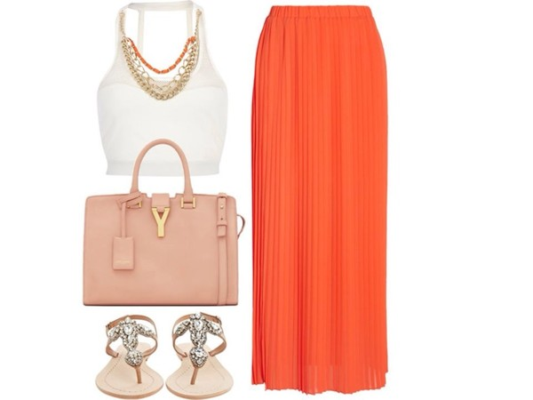 skirt coral colored skirt