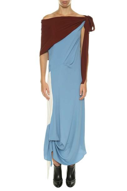 dress long dress long draped opal