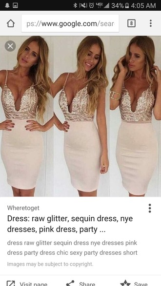 dress raw glitter sequin dress pink dress nye dresses party dress