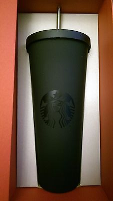 Starbucks Dot Collection Limited Edition Matte Black Cold Cup Tumbler 24 Oz Ebay