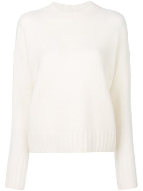 Helmut Lang jumper women white wool sweater