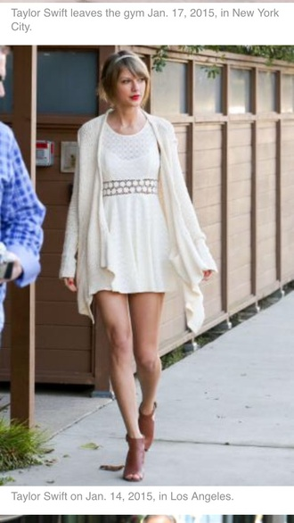 dress cream lace skirt