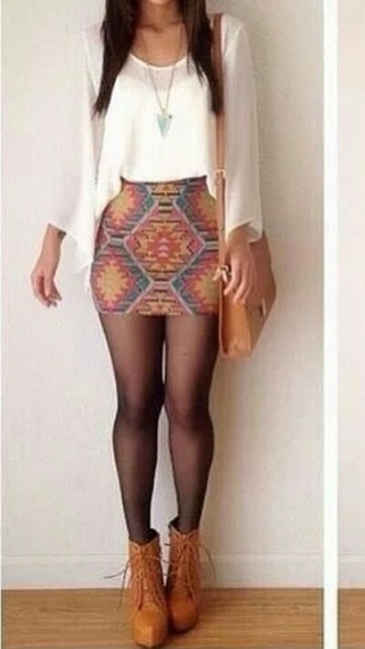 skirt skinny colours colourful american indian american indian style