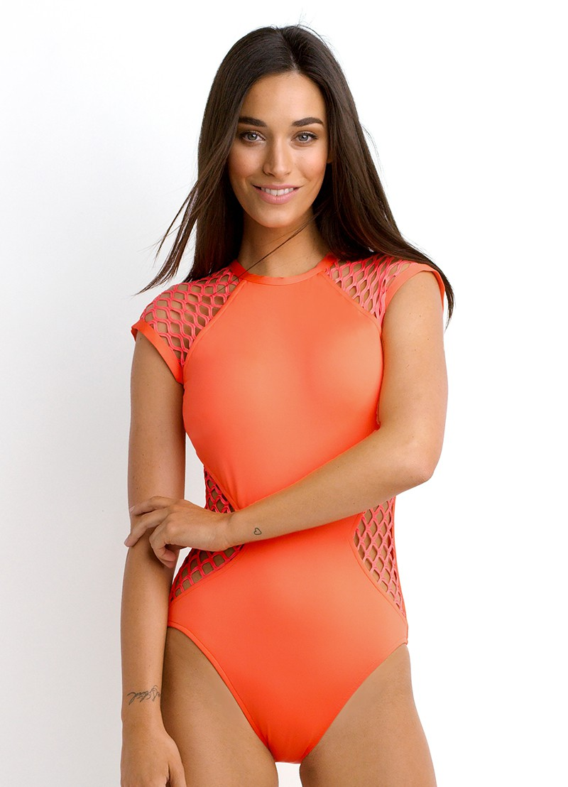 bdd17da60d Cap Sleeve One-Piece Swimsuit. Mesh About by Seafolly®