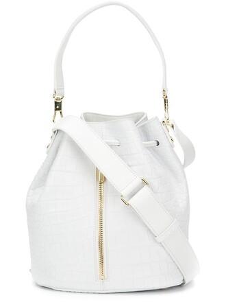 drawstring bag bucket bag white