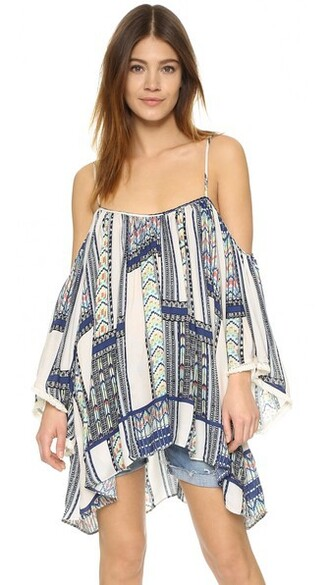 cover up gypsy print swimwear
