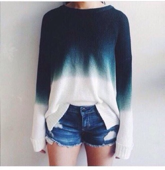 sweater grunge wishlist shirt ombre ombre top off-white ombre sweater cardigan