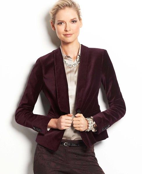 Velvet Tuxedo Jacket | Ann Taylor