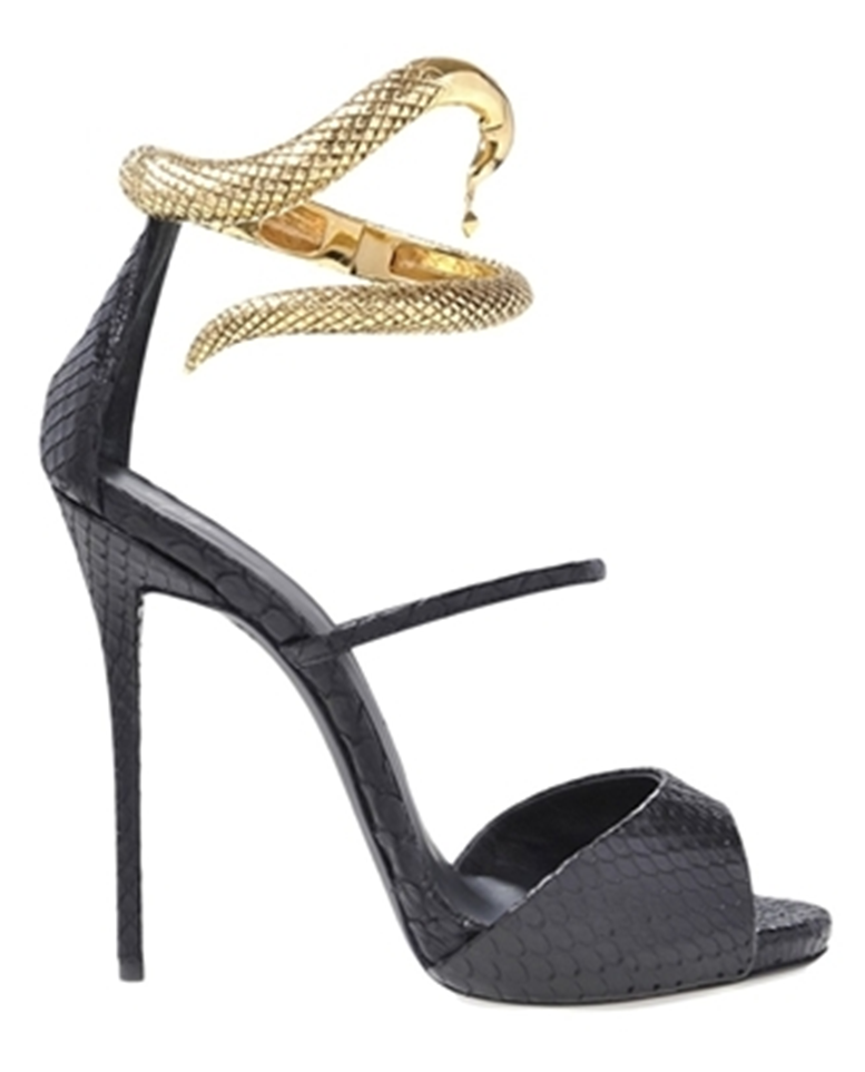 Buble ankle strap snake heels
