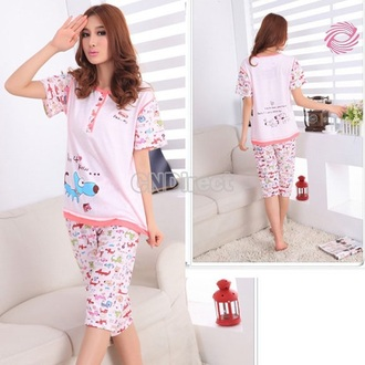 pajamas kawaii cartoon pink