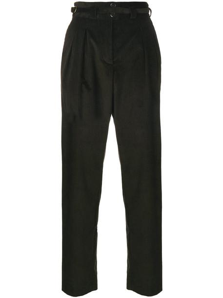A.P.C. A.P.C. - buckle corduroy trousers - women - Cotton - 40, Brown, Cotton