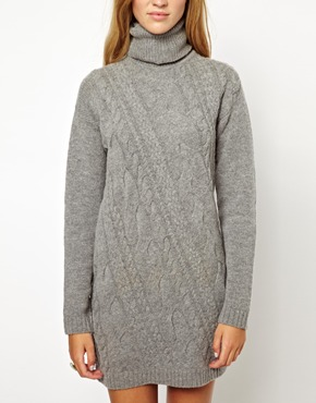 Pepe Jeans | Pepe Jeans Knitted Roll Neck Dress at ASOS