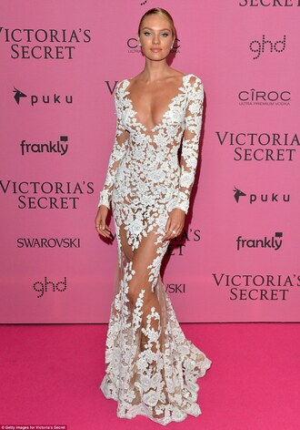 dress zuhair murad candice swanepoel victoria's secret