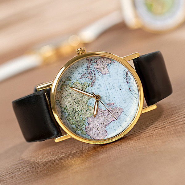 World map watch (3 colors)