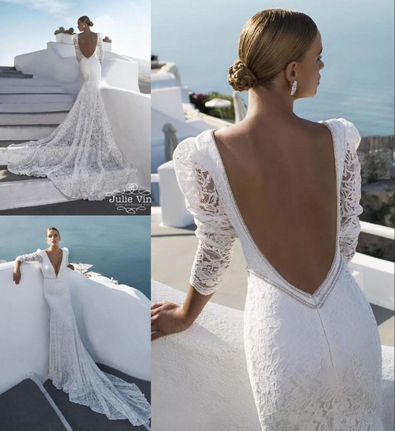 Dress julie vino 2016 julie vino wedding dresses backless wedding dress  mermaid wedding dreses long sleeveDress  julie vino  2016 julie vino wedding dresses  backless  . Long Sleeve Backless Wedding Dresses. Home Design Ideas