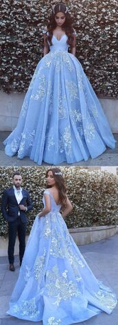 dress,blue,prom,flowers,pretty,elegant,sophisticated,white,floral,prom dress,gown