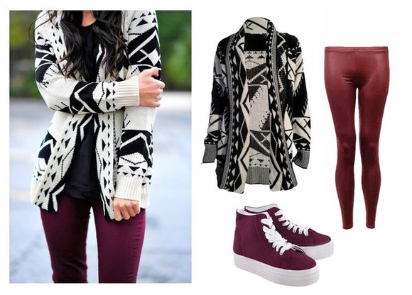 lovely pepa fall outfits tribal pattern open fashion back to school