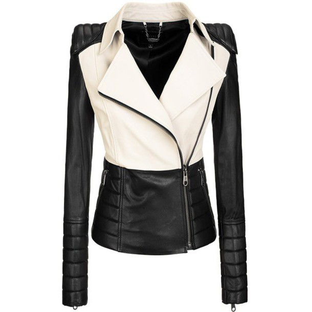 Jacket Black White Jacket Black White Jacket Black White Leather