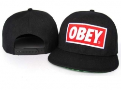 Obey Snapback Hat&Cap Black-Red [Obey007] - $7.50 :
