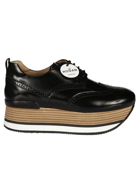 Hogan sneakers platform sneakers black shoes