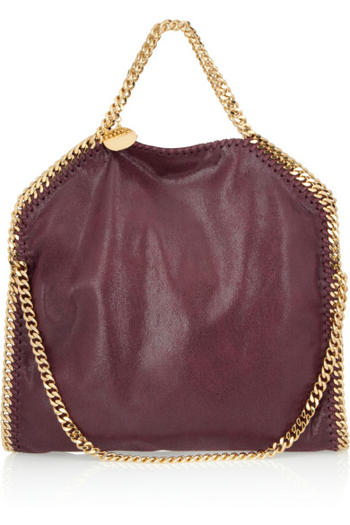 Stella McCartney | The Falabella convertible faux brushed-leather shoulder bag  | NET-A-PORTER.COM
