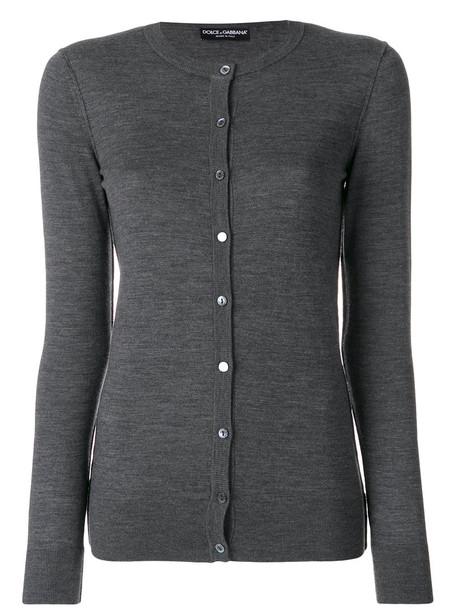 Dolce & Gabbana - buttoned cardigan - women - Virgin Wool - 38, Grey, Virgin Wool