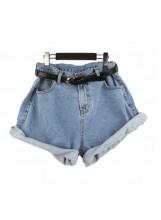 Baggy jean shorts