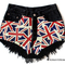 Runwaydreamz : kate vintage union jack black frayed shorts ($100-200) - svpply