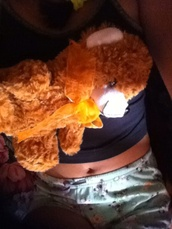 shorts,pajama pants,black crop top,teddy bear