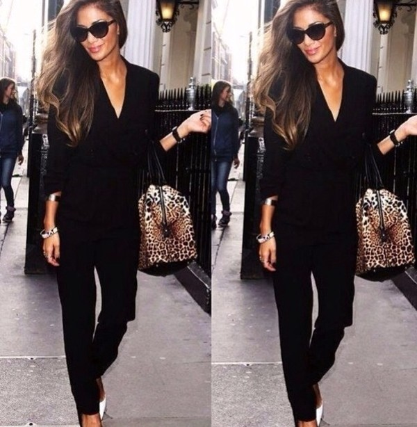 dress jumpsuit black classy clothes top
