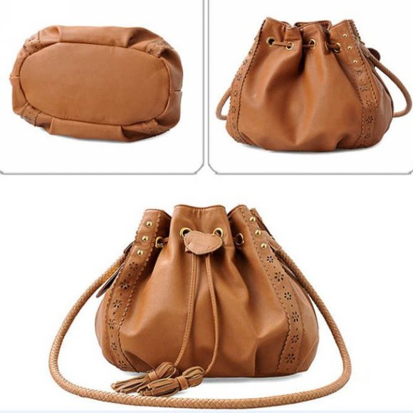 bag brown bag korean fashion purses