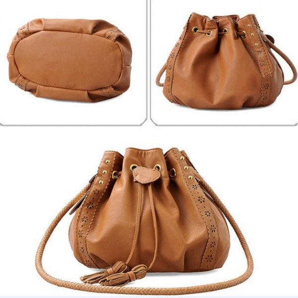bag korean fashion purse brown bag brown purse fashion trendy boho style fringes cool rose wholesale-feb