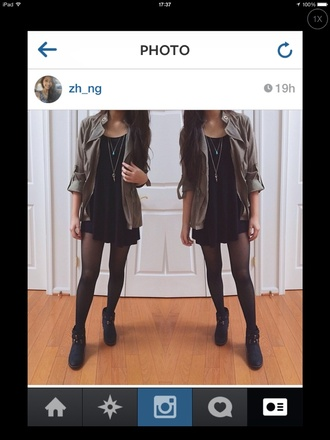 jacket khaki army green jacket winter jacket coat winter coat khaki coat winter outfits warm tumblr tumblr girl tumblr shirt girly cute girly grunge little black dress black black high heels necklace boots combat boots ankle boots vintage boots dress underwear shoes jeans