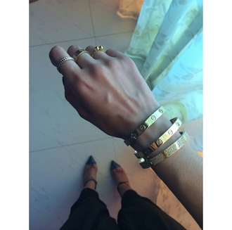 jewels jewelry ring bracelets gold ring cute bracelets rings & tings rings and tings bracelet gold cartier love simple ring/bracelet accessories accessorize trendy style stylish pretty rings pretty bracelet on point clothing dope bedazzled