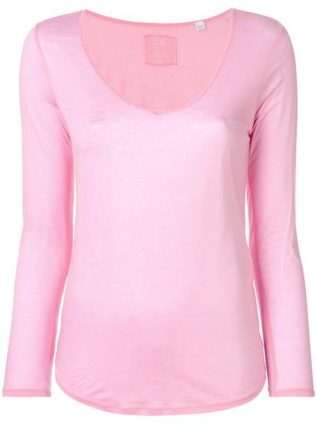 Closed sweatshirt women cotton purple pink sweater