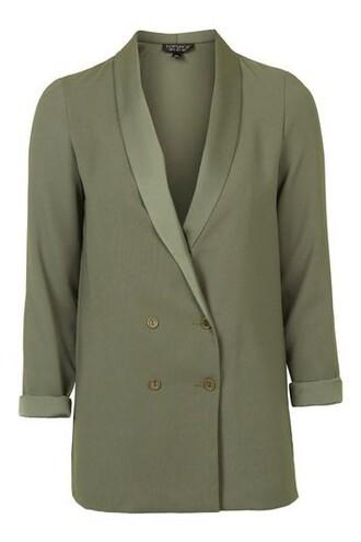 blazer soft khaki jacket