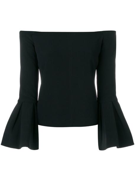 Alexis blouse women spandex black top