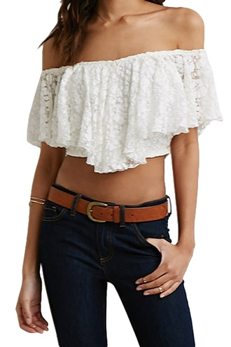 blouse top white lace zaful white lace crochet white crochet crop tops white crop tops white lace crop top lace crop top floral crochet floral lace floral lace top white floral white floral crop top off the shoulder off shoulder crop top summer summer outfits hipster summer top beach casual boho bohemian