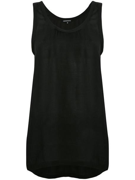 ANN DEMEULEMEESTER vest women black jacket