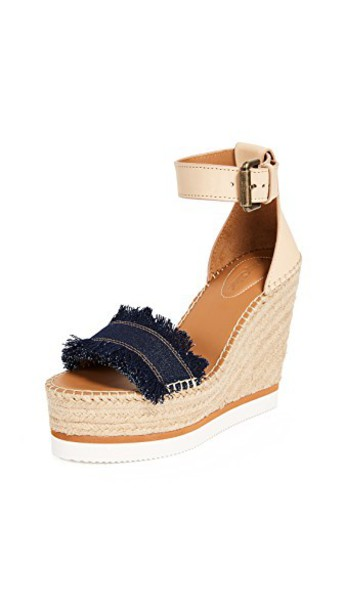 See by Chloe espadrilles denim shoes
